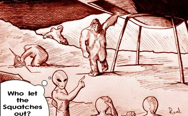 Is there a Bigfoot - UFO and Aliens link?