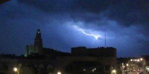 UFO Struck by Lightening