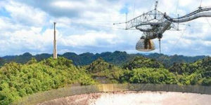 deep space static detected by radio telescopes