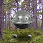 UFO Seen Scanning The Ground In Texas