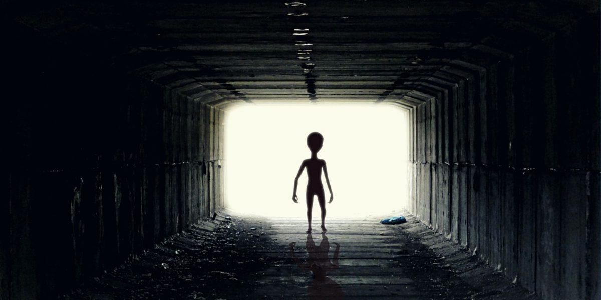 tall black alien