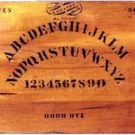 A photo of the original ouija board