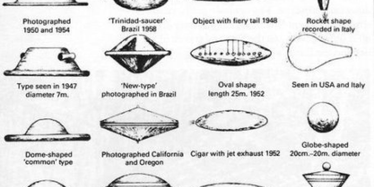 Gallery of common UFO shapes