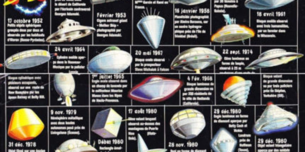 French UFO shapes infographic