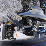 San Bernadino UFO forces van from road