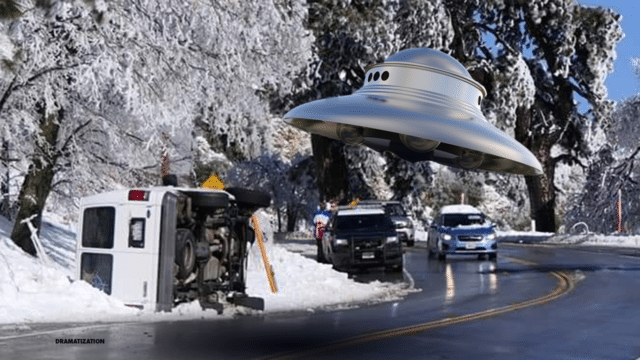 Driver blames UFO for accident