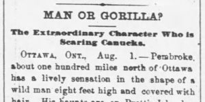 1800s Bigfoot news clipping