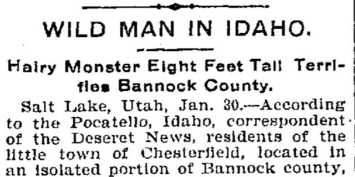1902 Bigfoot encounter