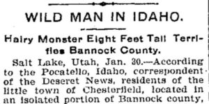 1902 Bigfoot encounter