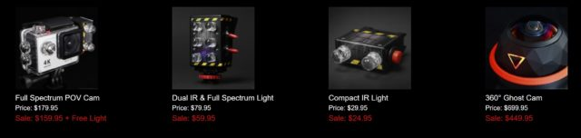 IR and full spectrum ghost hunting tools